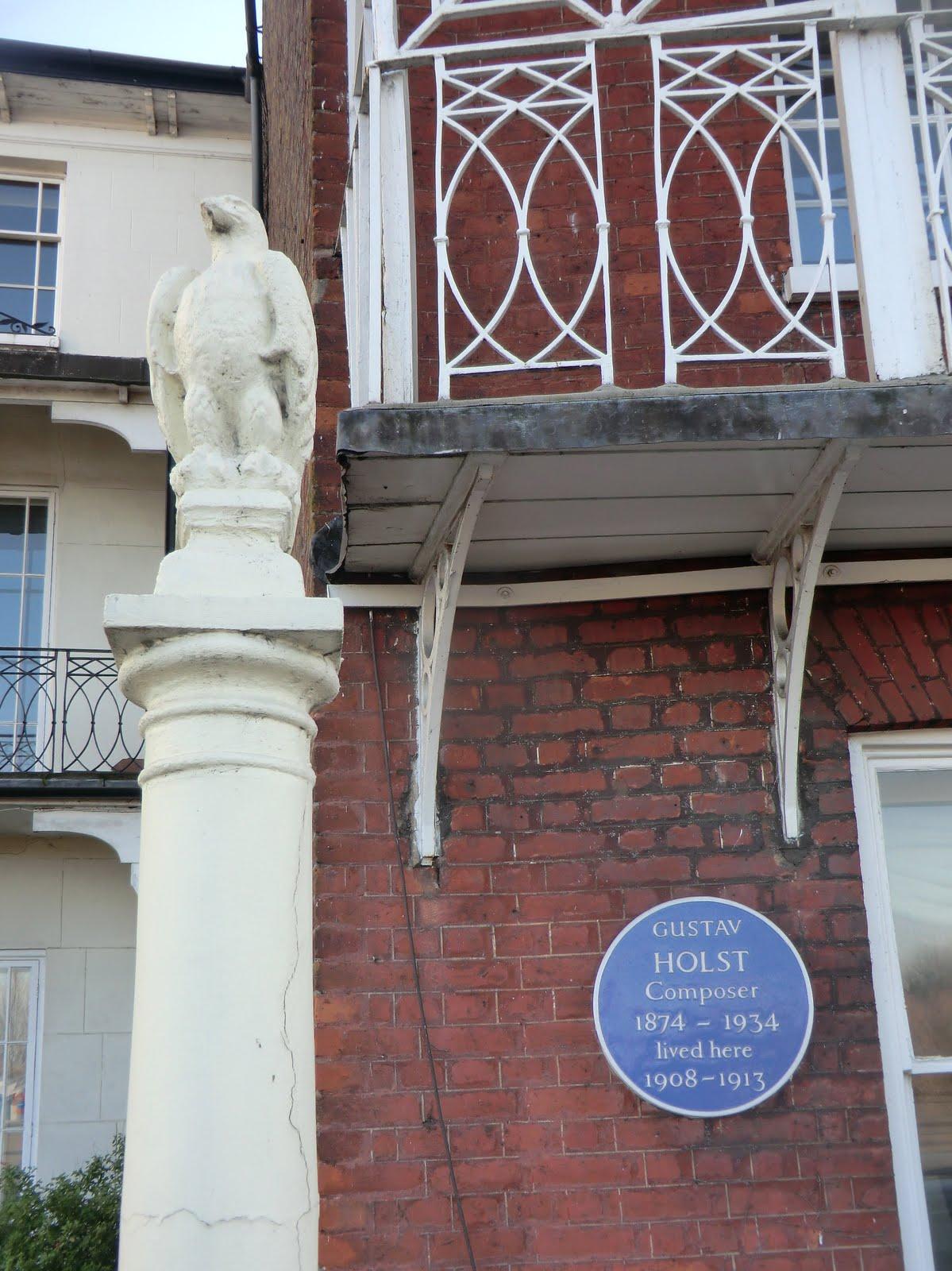 CIMG2491 Gustav Holst plaque, Barnes