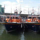 Double-take! Poole's Tyne class lifeboat 'City of Sheffield' and a relief lifeboat