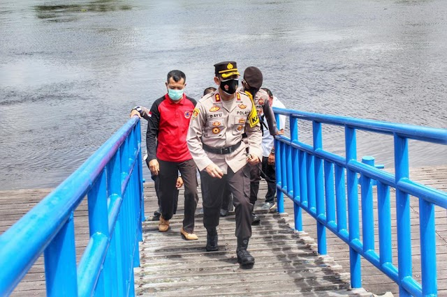 Deteksi Dini Kathutla dan Banjir di Seruyan, Kapolres dan BPBD Cek Debit Air