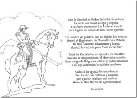 Dibujos de San Martín para pintar 1