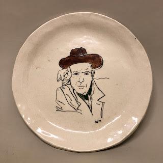 Signed Ceramic Plate