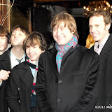 WWW.ENTSIMAGES.COM -  The Cast of BEATLES Let It Be arriving at   Whatsonstage.com Theatregoers Choice Awards Press Launch at Cafe De Paris London December 7th 2012                                                       Photo Mobis Photos/OIC 0203 174 1069