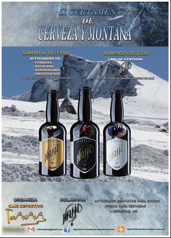Cartel Cerveza y Montaña 2018