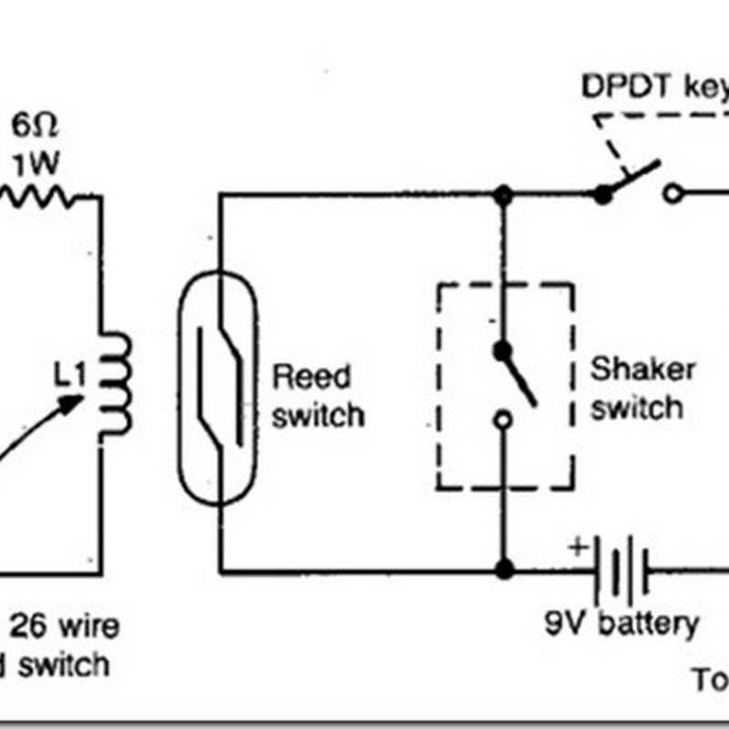 diy auto burglary alarm circuit diagram using reed switch