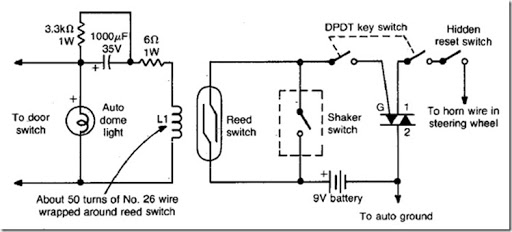 diy auto burglary alarm circuit diagram using reed switch limit switch e tech& 39;s smart guide to installation