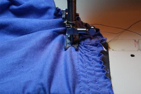 Transformando camiseta em saia