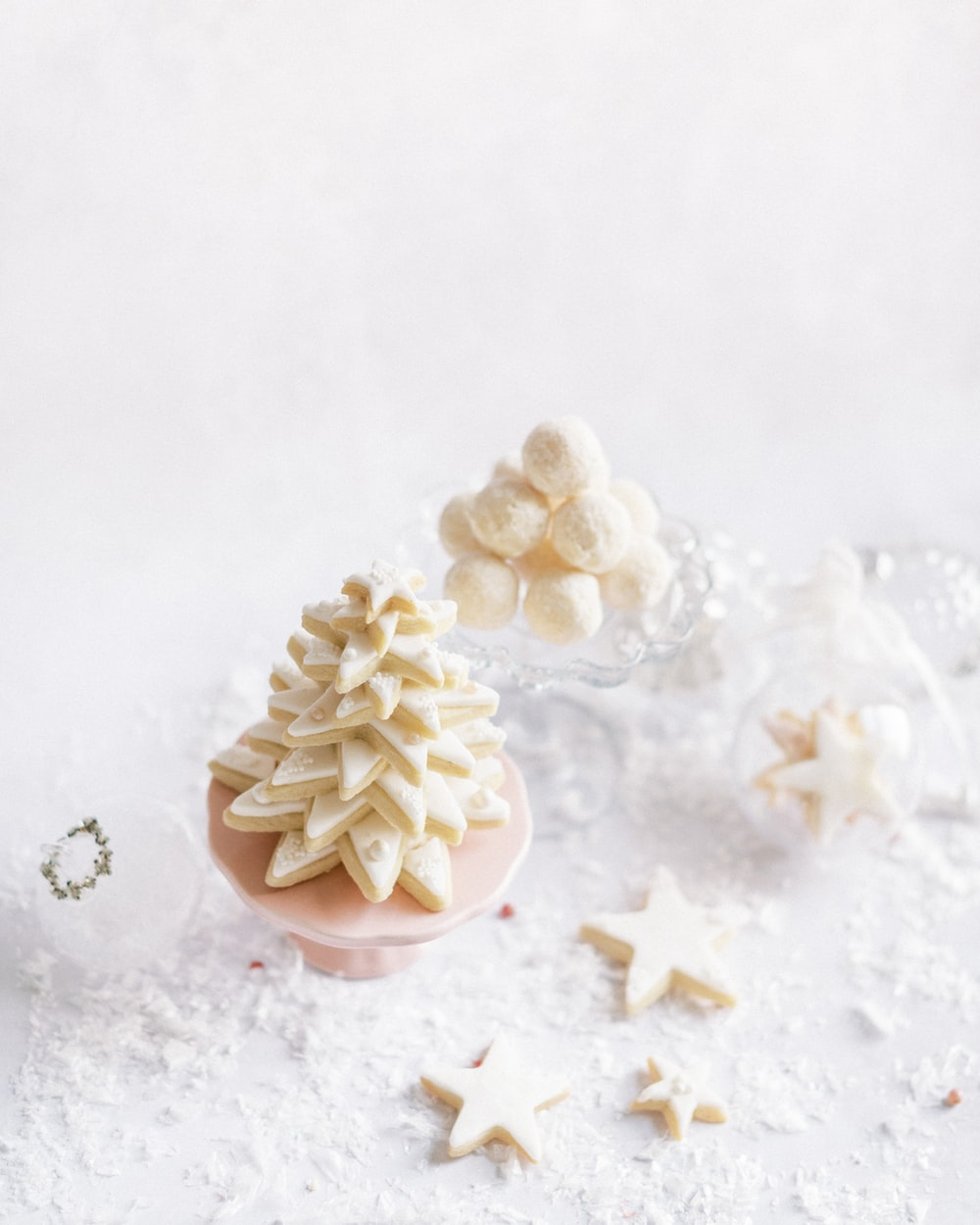 white chocolate truffles made with organic cocoa butter chips