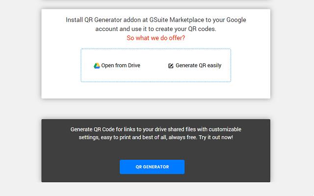 QR Code Generator - G Suite Marketplace