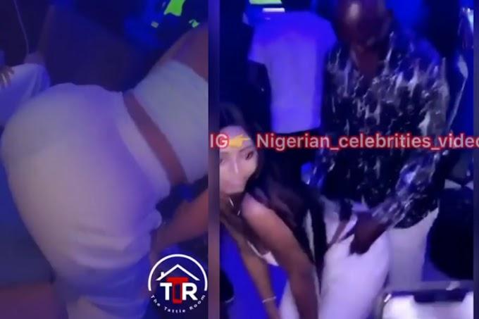 Regina Daniels Twerking For Her Husband Prince Ned Nwoko In A Night Club (VIDEOS)