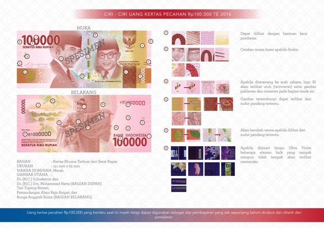 uang NKRI baru Rp100000