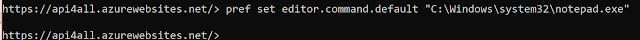 pref set editor.command.default