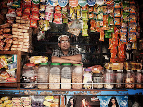 Photo: The friendly local grocer, somewhere in Andheri, Mumbai. www.michiel-delange.com