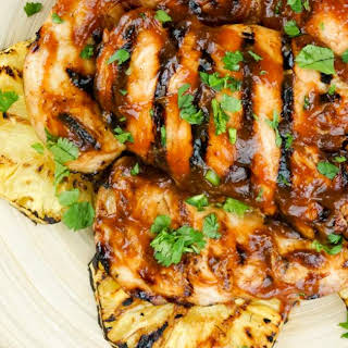Grilled Pineapple Barbecue Chicken.
