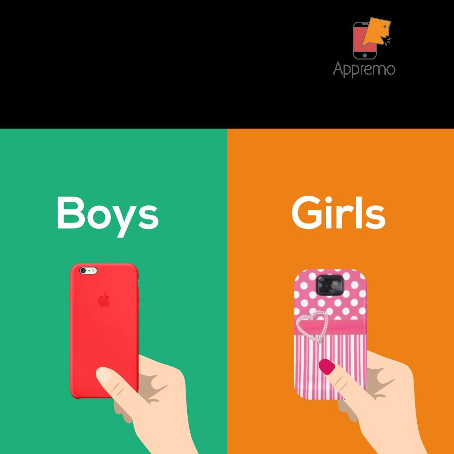 Sự khác nhau giữa con gái và con trai khi dùng smartphone