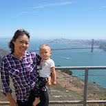 santa at hawk hill in San Francisco in San Francisco, California, United States