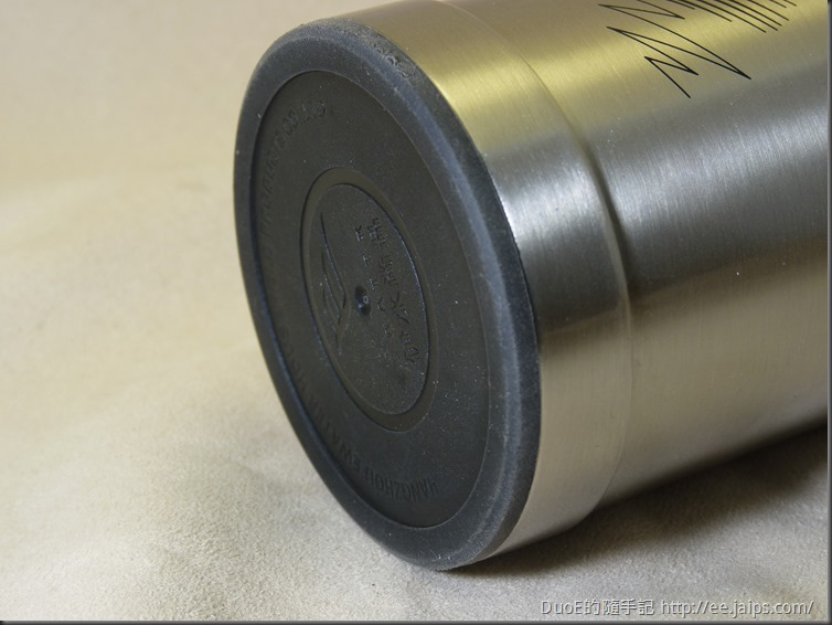 EWATER可拆式玻璃內膽保溫杯-防滑底墊