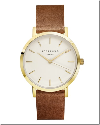 Rosefield Watch - The Gramercy White Brown