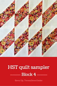 Block 4: 16 HST quilt sampler