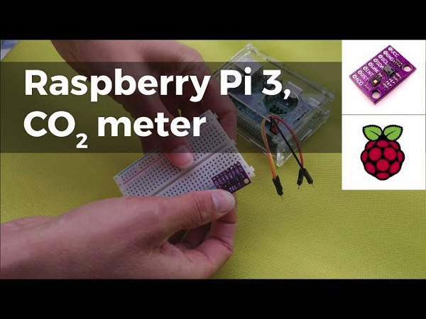 Build a simple CO2 meter using Raspberry Pi 3 via Adafruit