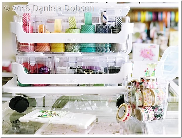 Caddy organizer washi by Daniela Dobson
