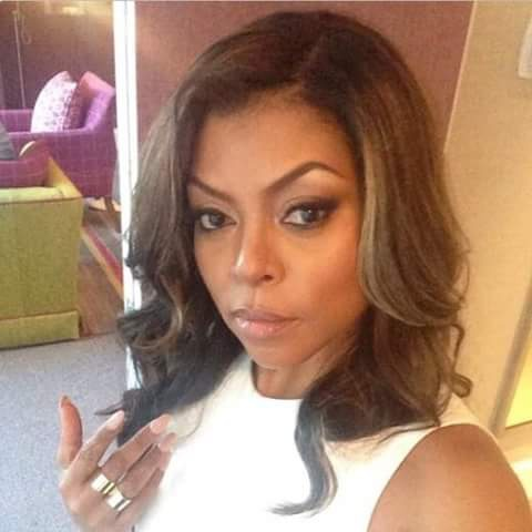 simple looking Taraji P. Henson dp image