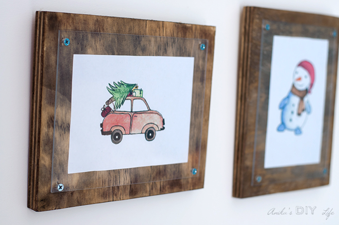DIY lumber photo frames