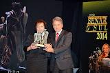 Germano Rigotto, quando entregava o Troféu Senar - O Sul, categoria Produtora Rural, para a Sra. Lenira Uriarte - 03/09/2014