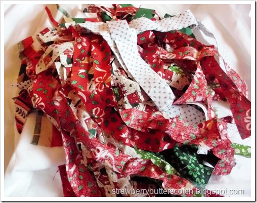 Scraps of Christmas Fabric