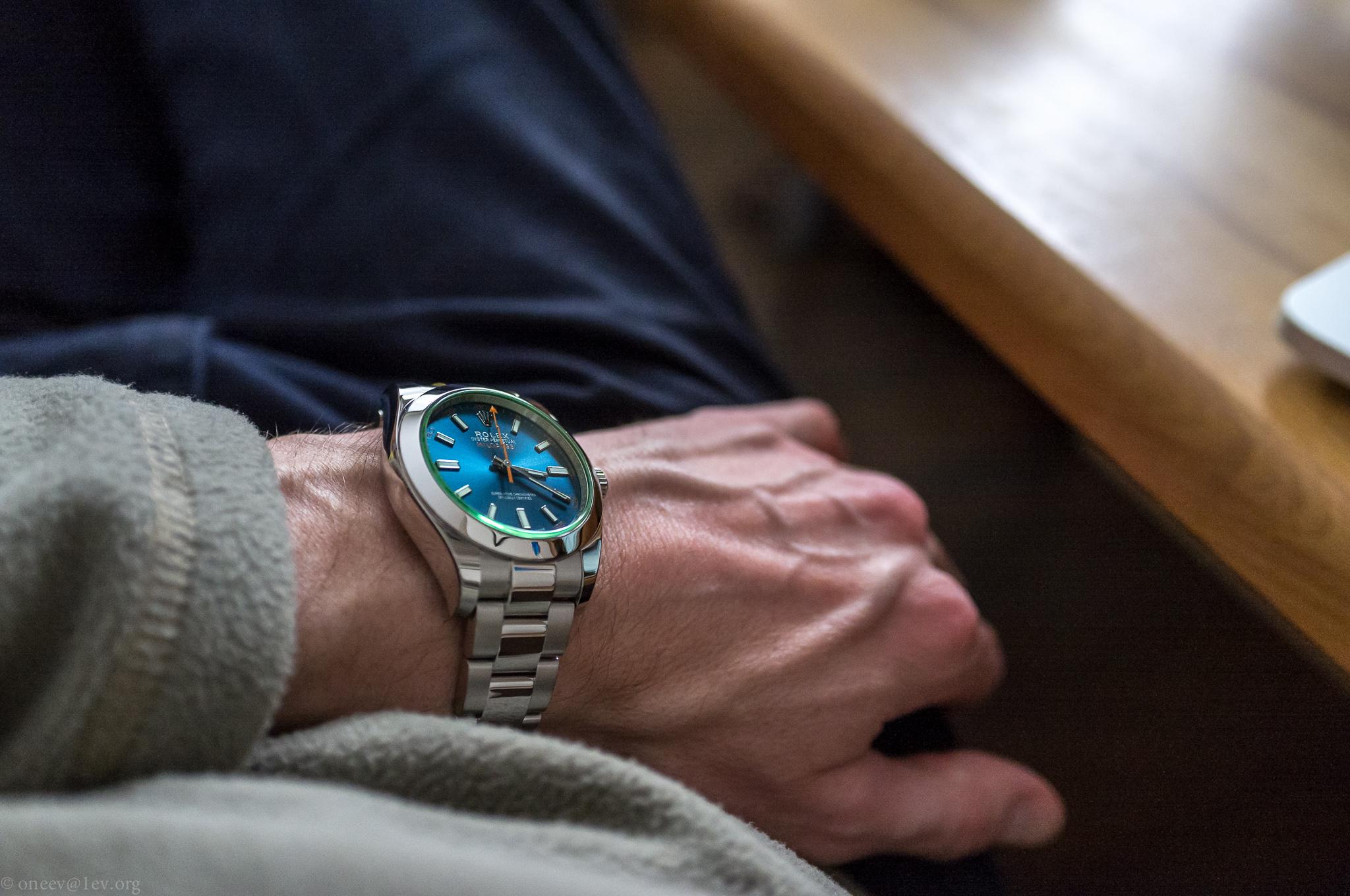 Revue illustrée de la Rolex Milgauss Z-Blue 20150131-DSCF5876