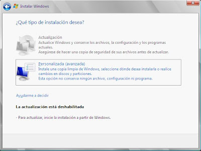 Reparar servidor Windows Server 2008 reinstalando sistema operativo