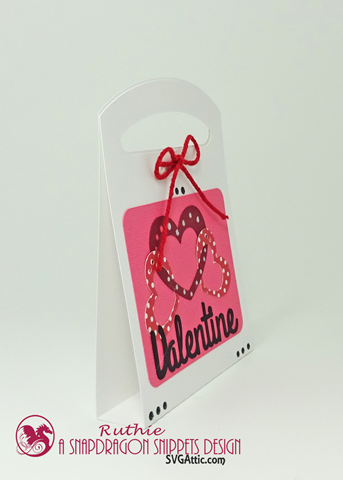 Valentine Tote Candy Box,  Valentine Tote Candy Be Mine Box, Ruthie Lopez, SnapDragon Snippets 4