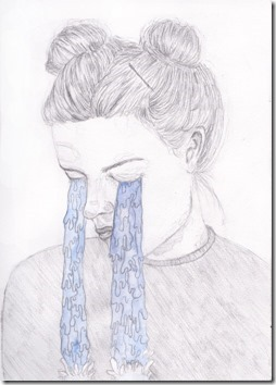 dibujos lapiz llorar y tristeza  (6)