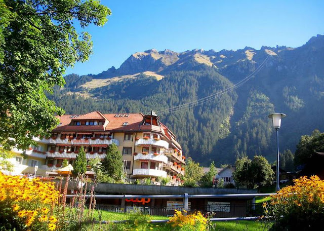 Деревня Венген в Швейцарии 6