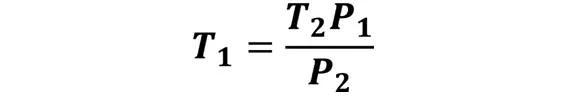 Las leyes de los gases: de boyle, de Charles, de Gay Lussac, de Avogadro y de Dalton - Despeje de la ley de Gay-Lussac cuando se desconoce T1 pero se conoce T2, P1 y P2 - sdce.es - sitio de consulta escolar