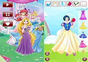 لعبة البنات Dress Up: Disney Gown