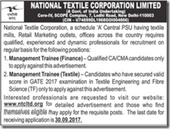 NTC Limited Management Trainee Jobs 2017 www.indgovtjobs.in