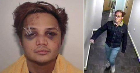 See the battered face of 'UK's worst rapist' after one of his 200 male victims fought back