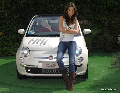 Fiat 500 and Laura Barriales
