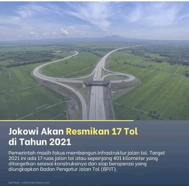 17 TOL BAKAL DIRESMIKAN PRESIDEN JOKOWI DI 2021, INI DAFTARNYA