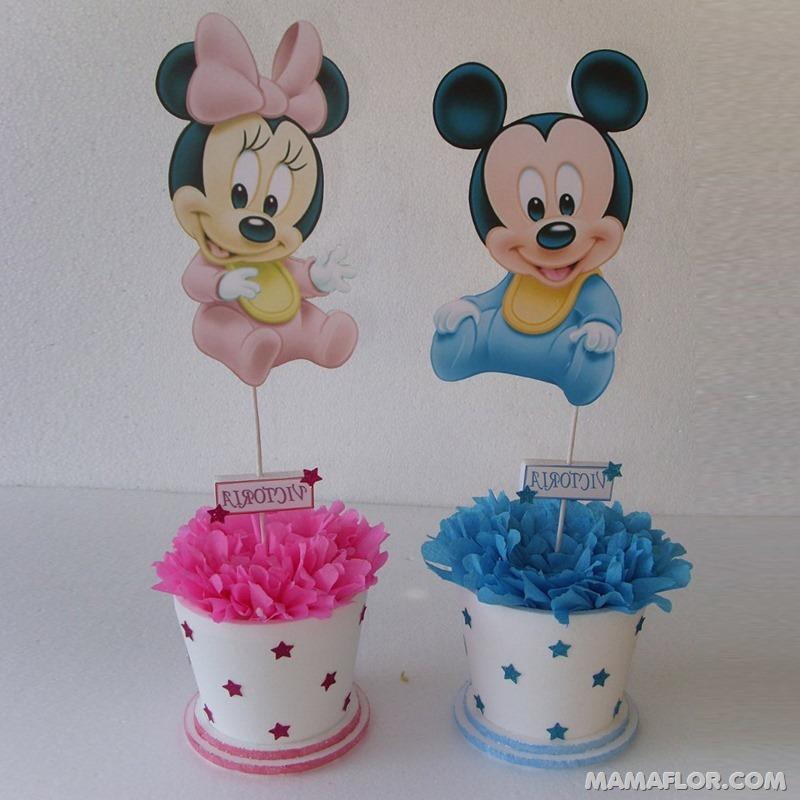 centro de mesa mickey y minnie mouse --- (26)
