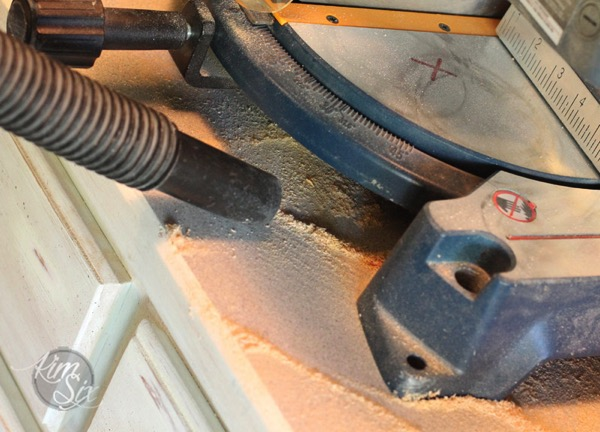 Vacuuming sawdust