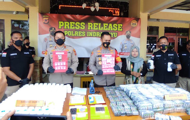 Bandar Obat Keras Ilegal Ditangkap! BB-nya Terbesar dalam Sejarah Polres Indramayu