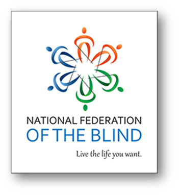 National Federation of the Blind logo including the tagline Live the Life You Want