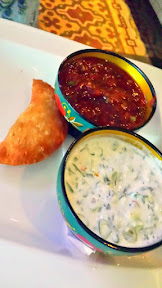 DaNet, a Russian Dinner Party which pops up at the Portland Penny Diner twice a month. Fried beef piroshky is passed as people are finding their assigned seats