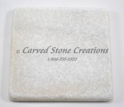 4x4 Crystal White Marble Tumbled Tile