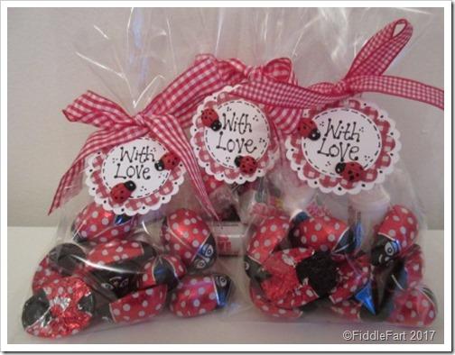 Ladybird Lovebug Valentines Vandy Sweet Bags