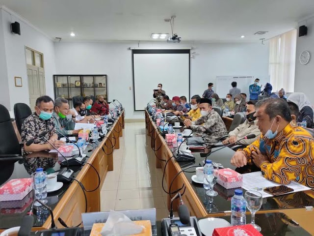 Konsultasi Anggaran Vaksin Covid-19, Legislator Kotabaru Kunjungi DPRD Kalsel