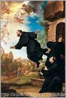 levitaçao de são Giuseppe é um dos casos de santos que voavam.