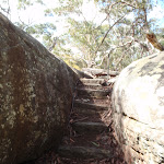 Steps below Girrakool engraving site (179826)