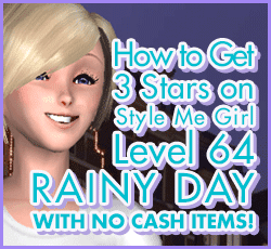 Style Me Girl Level 64 - Rainy Day - Jill - Stunning! Three Stars